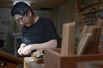 Eiji Hagiwara crafting at his studio in Sayama, Saitama Prefecture, Japan.
