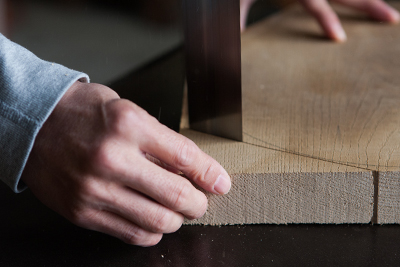 Kenichi Fujii crafting at the Fujii Works workshop in Ono, Hyogo Prefecture, Japan.