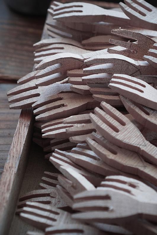 Fork blanks handmade by Hiroyuki Sugawara.