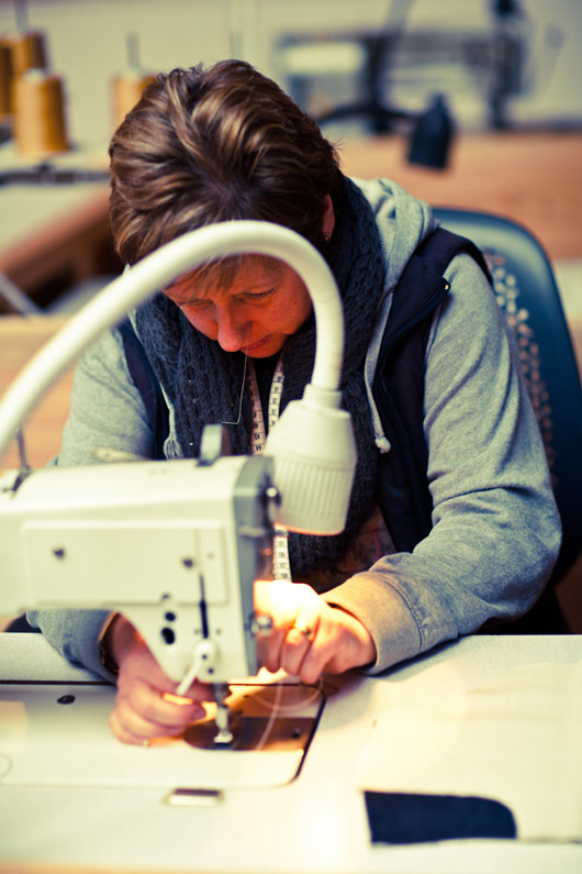 Producing the Denim at the Hiut Denim Factory