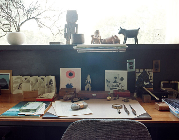 Na Hale 'A look at the desk of famous German architect and Bauhaus founder Walter Gropius. Photography by Leslie Williamson.
