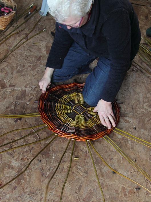 Kathleen Mccormick Weaving Willow.
