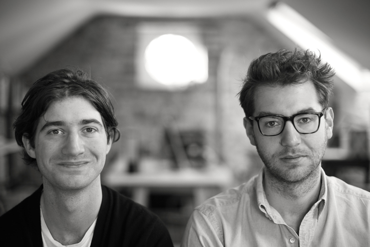 Jonathan and Mark Legge in the studio