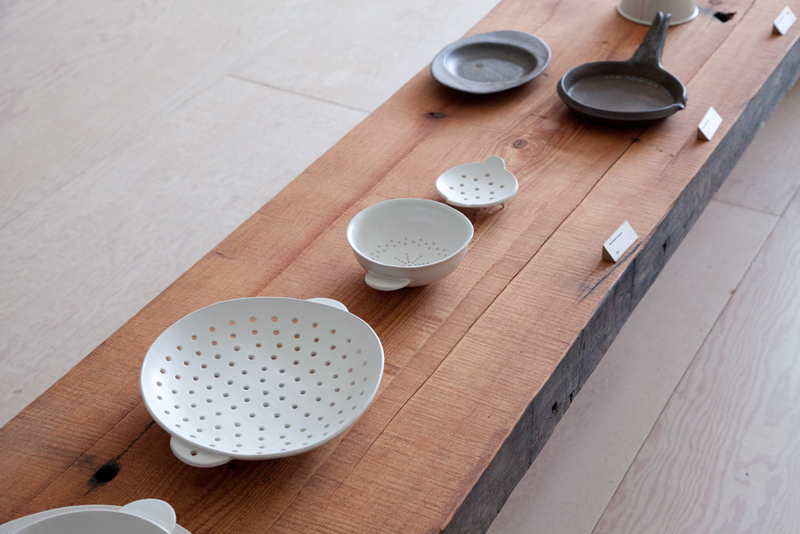 Beautiful functional ceramics in the front showroom.