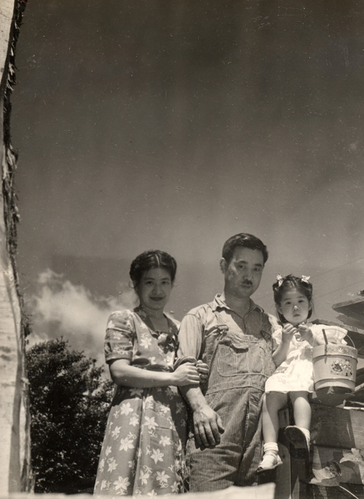 From the archive, George and Marion Nakashima, also Mira photographed as a baby