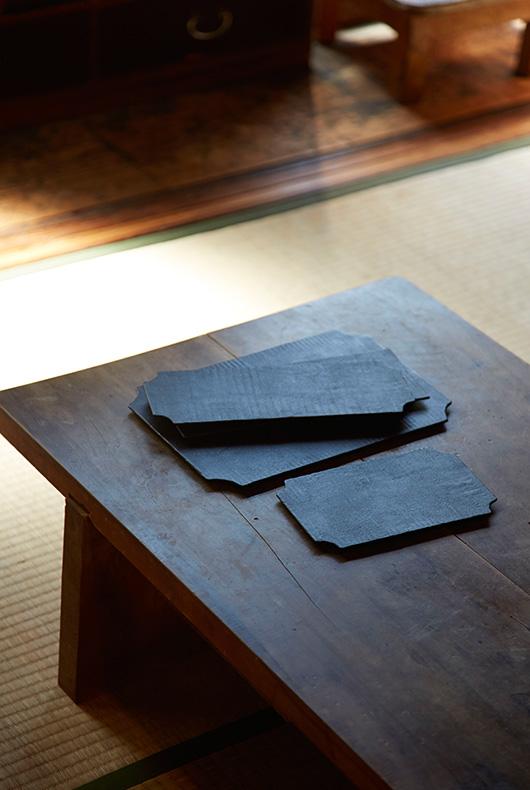 Small lacquer dishes by Akihiko Sugita.