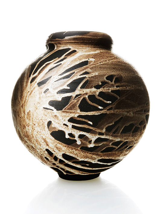 Adam Silverman Vase with interesting glaze