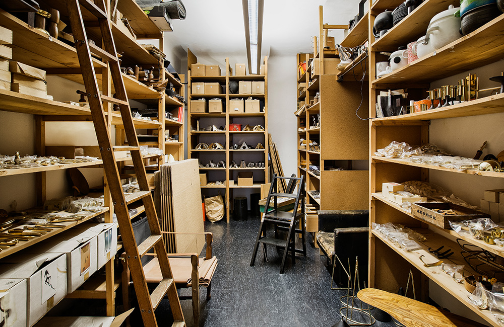 A look at the Carl Aubock stockroom.