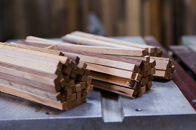 Wood blanks which are ready to be crafted.