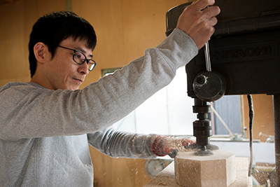 Kenichi Fujii at the Fujii Works workshop in Ono City, Hyogo Prefecture, Japan.
