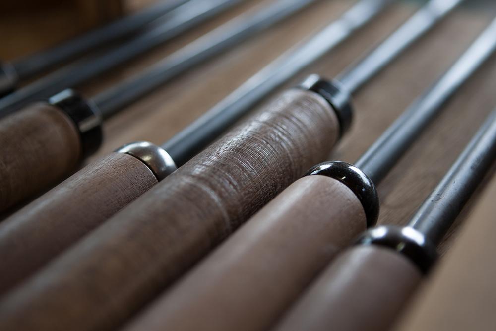 Tools inside the workshop of Kenichi Fujii or Fujii Works.
