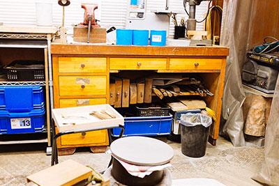 Inside Metalworker Rieko Fujimoto's Studio in Osaka.