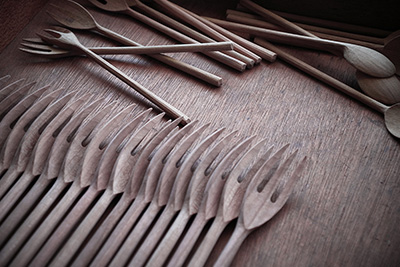 Cherry Forks and Oak Spoons, all of which can be found in OEN Shop.