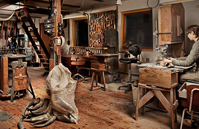 A look inside Hornvarefabrikken's workshop in Bøvlingbjerg, Denmark.