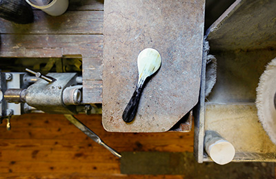 The final spoon ready to be used and to last a lifetime.