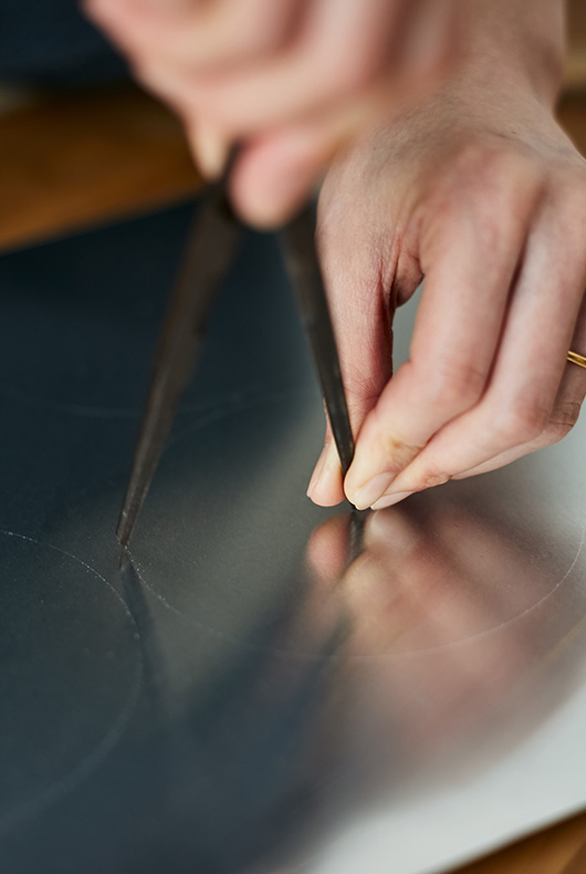 Close-up of Naho Kamada measuring out so she can make by hand.