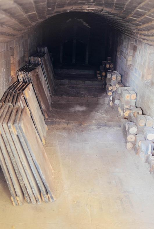 Inside the kiln of Japanese potter Keiji Tanaka.