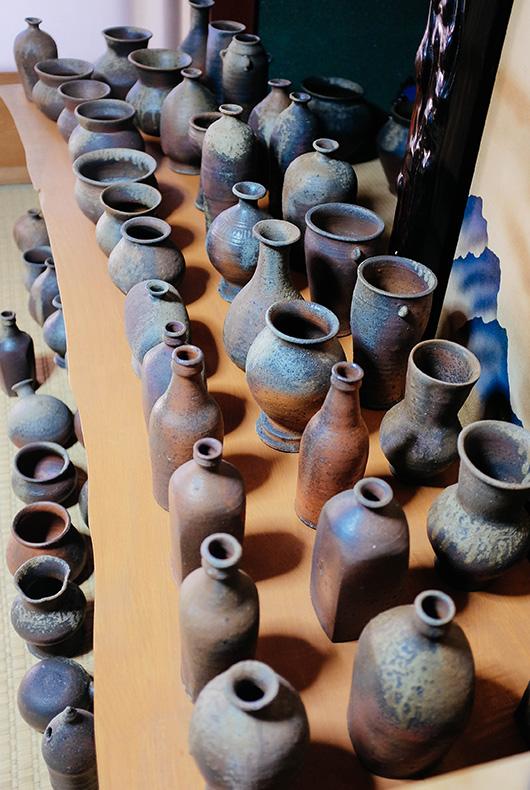 Keiji Tanaka's wood-fired pottery