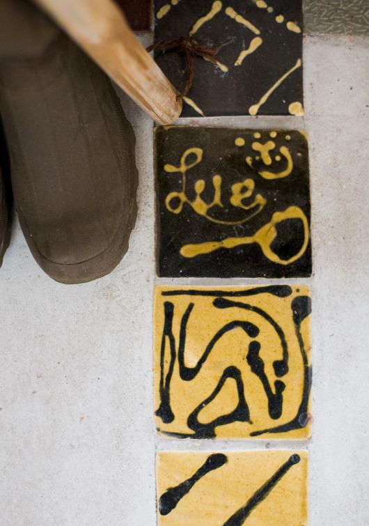 Handmade Tiles by Ruka Kikuchi.