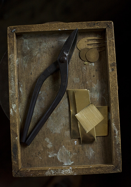 Ruka's tools from his workshop.