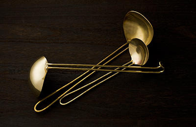 Small and Large Ladle by Lue Brass