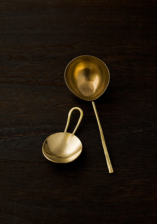 Brass Tea Measure by Lue Brass
