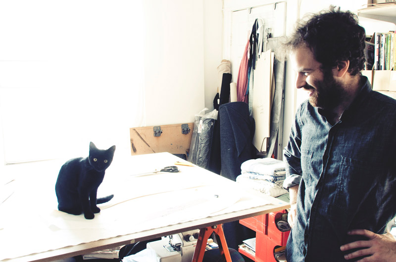 Markus Uran, owner, founder and main designer of Metsa, inside his studio in Toronto, Canada.