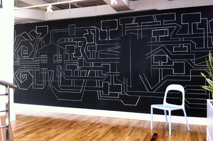 Chalk wall by Rodger Stevens