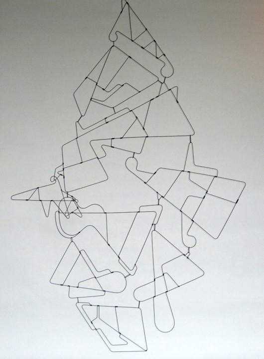Hanging Wire Sculpture for a gallery space.