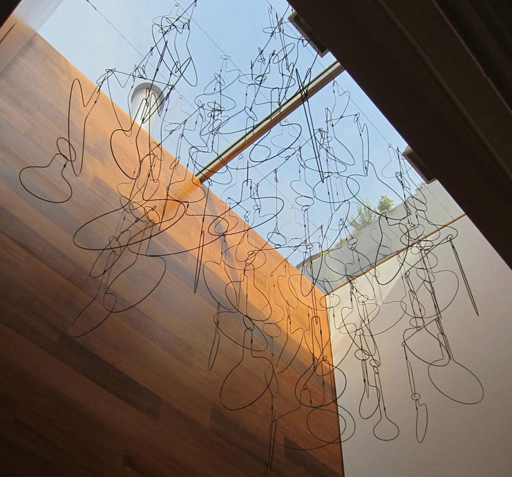 Downpour – 96 x 56 x 82, steel wire (private commission, Blesso Properties, New York, New York)